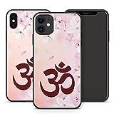 Handyhülle Om Mandala für iPhone Apple Silikon Hülle MMM Berlin Hippie Yin Goa Buddha Peace Yoga, Kompatibel mit Handy:Apple iPhone X, Hüllendesign:Design 5 | Silikon Schwarz
