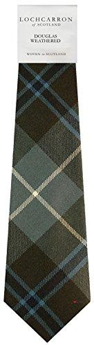 Clan Tie Douglas Tartan Weathered Tartan Pure Wool Scottish Handmade Necktie