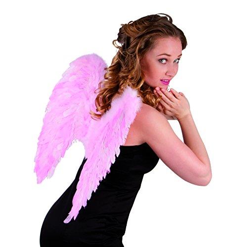 Boland 52825 - Engel Federflügel rosa, gefaltet, 50 x 50 cm