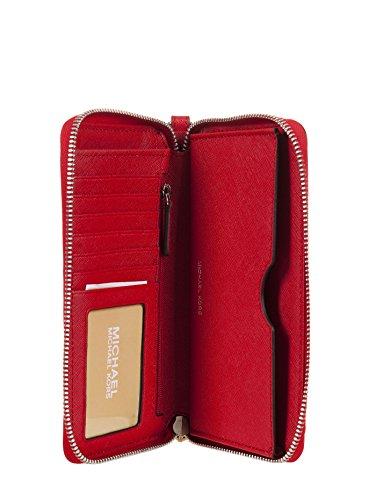 Michael Kors Jet Set Travel Femme Flat Multifunction Smartphone & Carte Housse et papiers, Taille unique Rouge