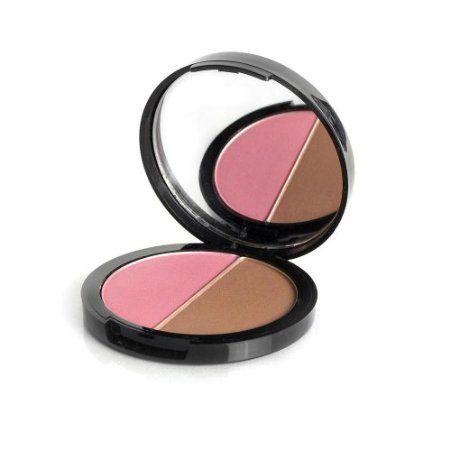 Satin Finish Contour Powder Duo - Sculpt, Contour & Highlight W Luxurious Sheer Color (First Crush) by USA -