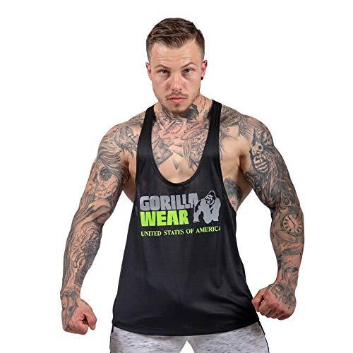 Gorilla Wear Nashville Tank Top - schwarz/neon grün- Bodybuilding und Fitness Bekleidung Herren, XL (Neon Grünes Tank Top)
