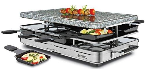 Spring Raclette 8 inox Granitplatte 6761.00
