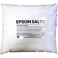 EPSOM BATH SALTS   5KG BAG   100% Organic   FCC Food Grade   Magnesium Sulphate