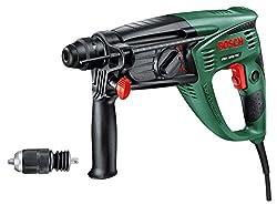Bosch Bohrhammer PBH 3000 FRE (750 Watt, mit 4tlg. SDS-Set, im Koffer)