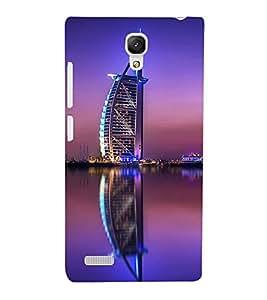Fuson Premium Back Case Cover Burz Khalifa With Blue Background Degined For Xiaomi Redmi Note::Xiaomi Redmi Note 4G