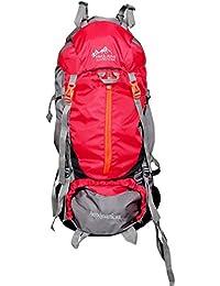 Himalayan Adventures 80 Ltrs Red Backpack/Rucksack/Travelling Bag/Hiking Bag/Adventure Bag/Camping Bag (Nylon,...