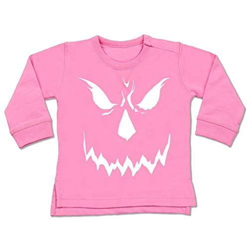 Baby - Scary Smile Halloween Kostüm - 6-12 Monate - Pink - BZ31 - Baby Pullover ()