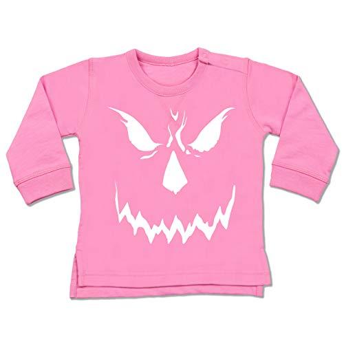 Shirtracer Anlässe Baby - Scary Smile Halloween Kostüm - 6-12 Monate - Pink - BZ31 - Baby Pullover