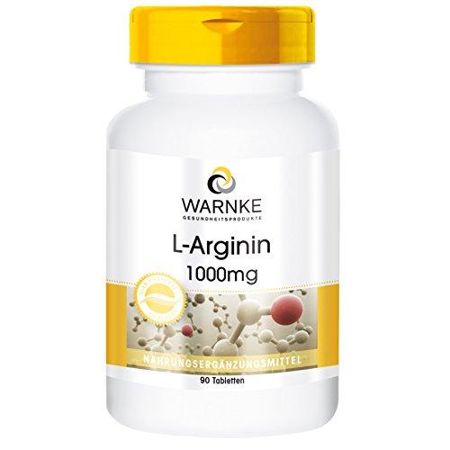 Warnke Gesundheitsprodukte L-Arginin 1000mg - 90 Tabletten - Reinsubstanz