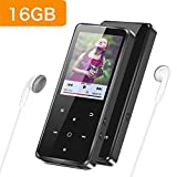 Supereye, lettore MP3 con Bluetooth 4.0, lettore musicale digitale da 16 G, portatile, senza perdite, con radio FM, foto/e-book, supporto espandibile fino a 64 G, cuffie musicali incluse
