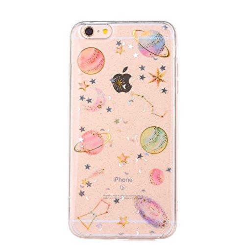 Edaroo Bling Glänzend Planet Muster Crystal Hülle für iPhone 7 / iPhone 8 4,7