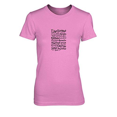 Expelliarmus - Damen T-Shirt, Größe: XL, Farbe: pink
