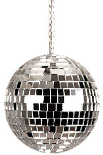Fancy Ole - Karneval Kostüm Accessoire Kette Discokugel, Silber