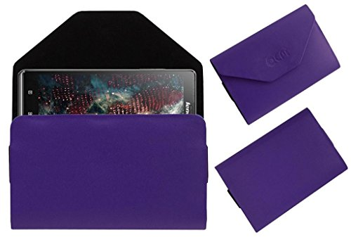 Acm Premium Pouch Case For Lenovo Vibe Z K910 Flip Flap Cover Holder Purple  available at amazon for Rs.179