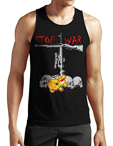 Blood-skull-t-shirt (Stop War Tank Top neu Against Comic Guns Skull Spruch Blood Kult Fun Punk Waffe)