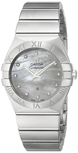 OMEGA WOMEN'S 27MM STEEL BRACELET SWISS QUARTZ WATCH 123.10.27.60.55.003