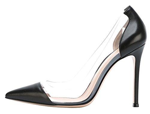 Guoar - Scarpe chiuse Donna B-Schwarz PU