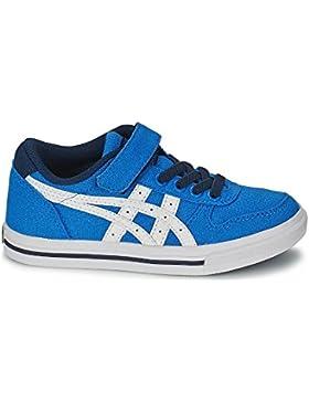 Zapatos Aaron niño MID Blue/White–Asics
