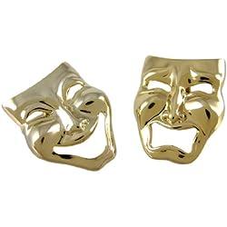 Chapado en oro Comedia/Tragedia máscara Gemelos actuando