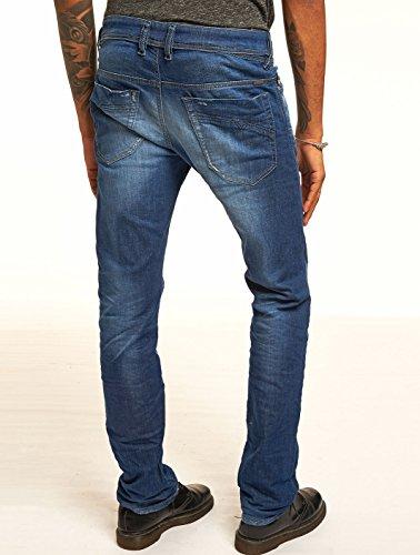 DIESEL Iakop Jeans Herren Röhre dunkelblau vintage 0607P Safado NEU Blau