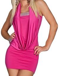 Blansdi sexy Clubwear Mini Slim Fit Soirée Cocktail sans manches dos nu robe
