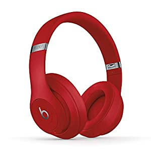 Beats Studio3 Wireless Noise Cancelling Over-Ear Headphones - Apple W1 Headphone Chip, Class 1 Bluetooth, Active Noise Cancelling, 22 Hours Of Listening Time - Red (Latest Model)
