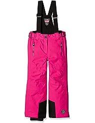 Killtec Ivy–Pantalón de esquí con tirantes niña, 00437/rosa neón, FR: 128(talla fabricante: 8años)