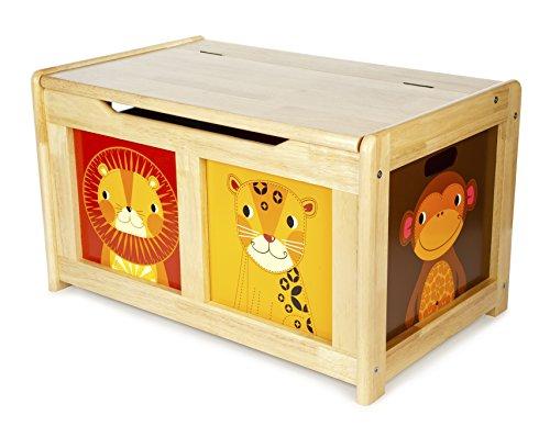 Tidlo T-0227 - Jungle Spielzeugtruhe Natur, Spielwaren -