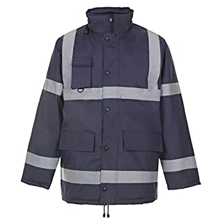 Colour: NAVY - PARKA | Size: 3XL XXXL | Type: HIGH VISIBILITY DOORMAN WORKWEAR PARKER RECOVERY