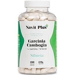 Garcinia Cambogia + L-Carnitina + Té Verde. Reductor del apetito, quemagrasas natural, termogénico potente. Tú complemento natural para ayudarte a quitarte esos kilos de más. 180 cápsulas.