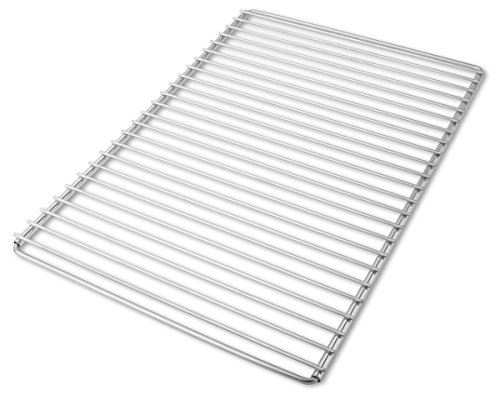 Edelstahl Grillrost mit verstellbarer Breite 55-65X37cm aus Europäischem Edelstahl, Verstellbarer Grillrost, Grillrost Ausziehbar
