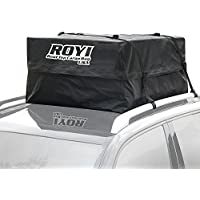Portaequipaje techo, ROYI Cofre techo coche 100% impermeable para viajes y transporte de equipaje, camping - 3 años de garantía - Super gran espacio de almacenamiento (15 pies cúbicos)
