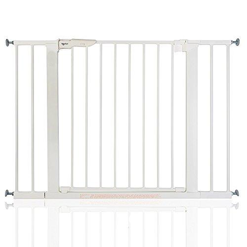 BabyDan Premier - Bebé Puerta de la Escalera Barrera de Seguridad Blanco,...