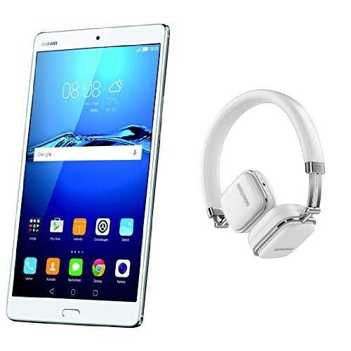 Huawei MediaPad M3 Silver WiFi (32 GB Festplatte, 4 GB RAM, AndroidTM 6, EMUI 4.1) silber + Harman/Kardon Soho Wireless NFC Bluetooth On-Ear Mini Kopfhörer
