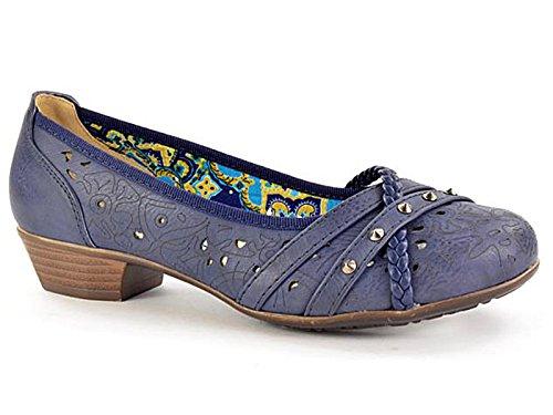 Foster Footwear ,  Mädchen Damen Pumps Navy