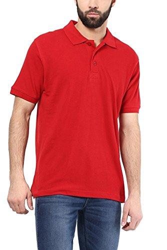 Sunstar Uniforms Men's Polo Collar Red T-Shirt - XXL (SU206-XXL)