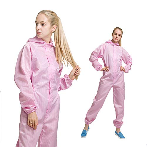 LYY Staubdichte Kleidung/Spray Paint Anti-statisch, Even Body Tie Hut Can Be Cleaned and Disinfected, Unisex 6 Farben Optional,pink,L