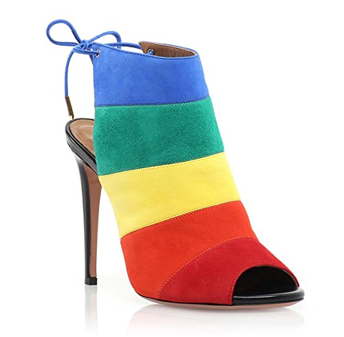 Elobaby Frauen High Heels Mode Schuhe Sexy Weibliche Regenbogen Pumpe Farbverlauf Schuhe, A, 38