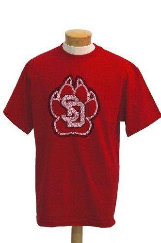 CI Sport NCAA South Dakota Coyotes Biggies T-Shirt mit kurzen Ärmeln, Herren, rot, XX-Large - Tee South Dakota