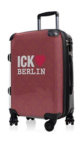 """HAUPTSTADTKOFFER® · Hartschalenkoffer Handgepäck Koffer Trolley Reisekoffer Hartschale · Serie """"Style"""" (Retro Sommer Strand) Ick liebe Berlin"""