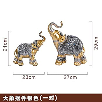Vitrine décoration décoration création maison maison personnage européen artisanat Chambre de télévision salon , Un éléphant marron argenté