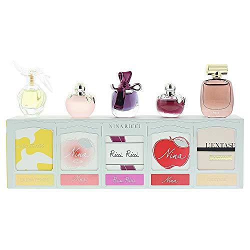 Set Nina Ricci Miniature Set 5 x 4ml - L'Air du Temps EDT / L'Eau Eau Fraiche EDT / Ricci Ricci EDP / Nina EDT / L'Extase EDP -