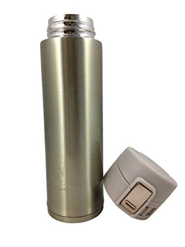 mymagnolia Design Isolierflasche   450 ml Edelstahl   Travel Mug mit Sport Verschluss   BPA-frei   Auslaufsicher Kaffee Travel Mug Gold