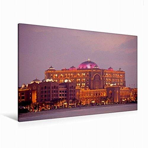 Preisvergleich Produktbild Premium Textil-Leinwand 120 cm x 80 cm quer, Emirates Palace | Wandbild, Bild auf Keilrahmen, Fertigbild auf echter Leinwand, Leinwanddruck (CALVENDO Orte)