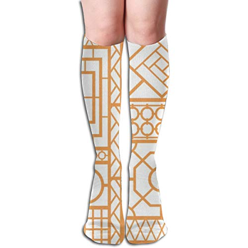 High Trellis (Women's Fancy Design Stocking Trellis Multi Colorful Patterned Knee High Socks 19.6 Inchs)