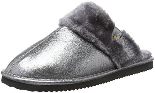 flip*flop Damen Cuddle Pantoffeln Silber (Silver 907)