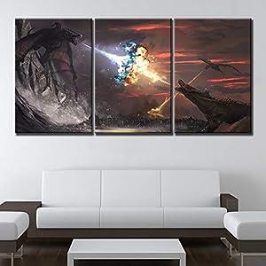 ksjdjok Decoración del hogar Juego de Tronos Cuadro en Lienzo de impresión Poster Imagen de Marco Modular Marco de Arte… 2