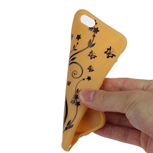 iPhone 6S Coque,iPhone 6 Case,iPhone 6 Cover - Felfy Cas Ultra léger Mince Slim Gel Souple Soft Flexible TPU Silicone Fashion Couleurs de Bonbons Etui Couverture de Protection Bumper Anti Rayures Anti Jaune Vigne Fleur