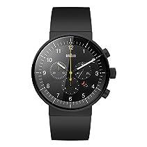 Braun Unisex-Armbanduhr Analog Quarz Kautschuk BN0095BKBKBKG